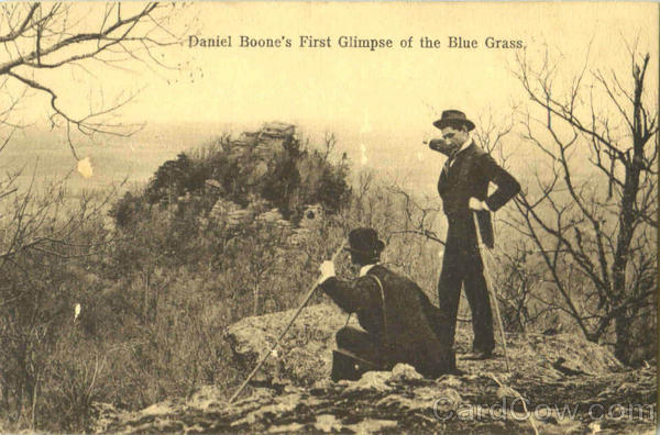 Daniel Boone's First Glimpse Of The Blue Grass Scenic Kentucky