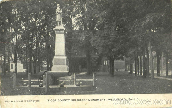 Tioga County Soldiers Monument Wellsboro Pennsylvania
