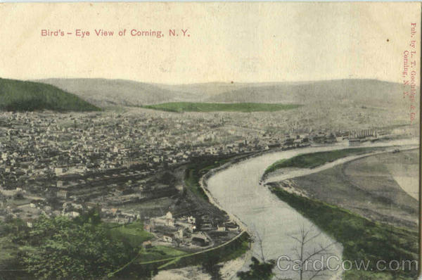 Bird's Eye View Of Corning New York