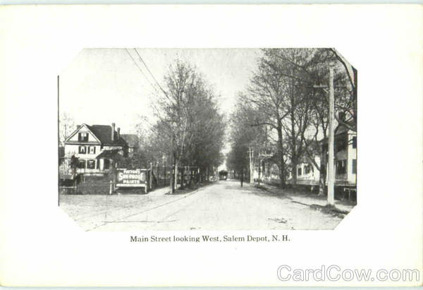 Main Street Looking West Salem Depot New Hampshire