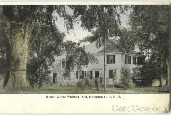 House Where Whittier Died Hampton Falls New Hampshire