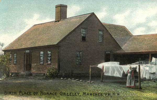 Birth Place Of Horace Greeley Manchester New Hampshire
