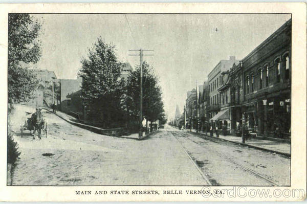 Main And State Streets Belle Vernon Pennsylvania