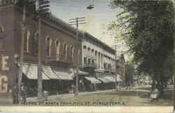 Second St. North From Mill St Postcard