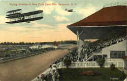 Flying Airships At New York State Fair Postcard