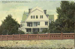 Residence Of F. E. Dewolf