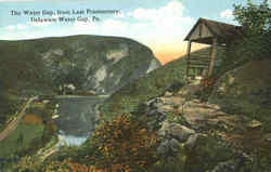 The Water Gap From Last Promontory Postcard