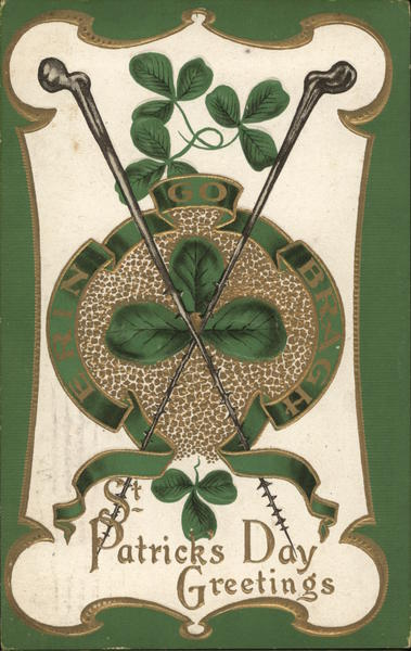 St Patrick's Day Greetings with Shamrock Emblem St. Patrick's Day