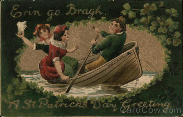 Irish People in Row Boat St. Patrick's Day