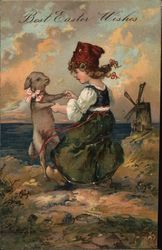 Best Easter Wishes - Child Dancing with Lamb