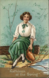 """Kathleen at the spring"" Postcard"