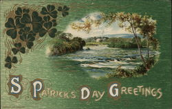 St Patrick's Day Greetings with View of Ireland Postcard