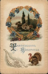 Thaanksgiving Greetings Postcard