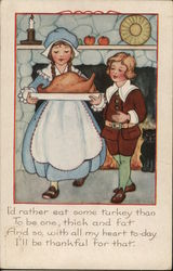 Boy and Girl Holding Platter with Cooked Turkey