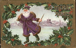 A Merry Xmas - Santa in Purple
