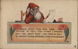 Santa Writing a Letter
