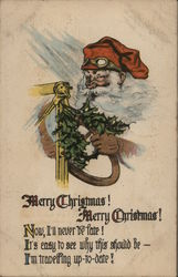 Santa with Driving Goggles and Gloves, Model T
