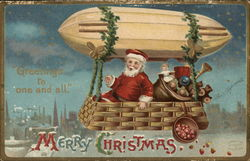 Merry Christmas - Santa in Airship