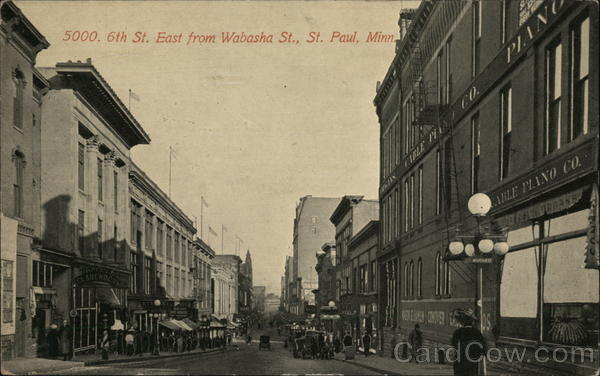 6th St. East from Wabasha St. St. Paul Minnesota