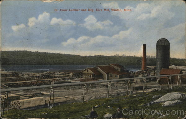 S. Criox Lumber and Mfg. Co's Mill Winton Minnesota