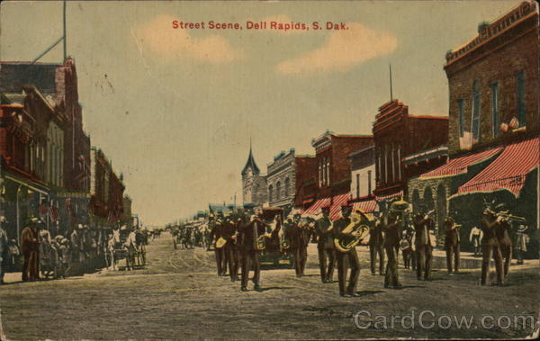 Street Scene Dell Rapids South Dakota