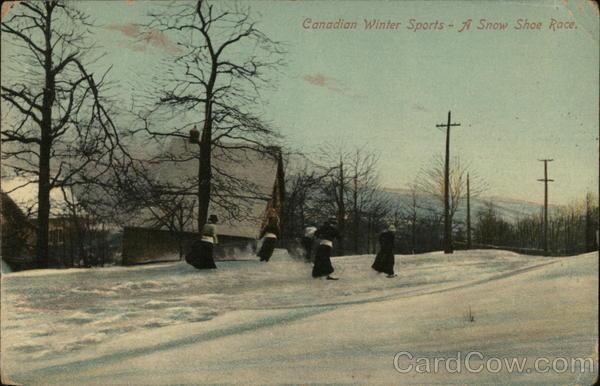 Canadian Winter Sports - a Snowshoe Race