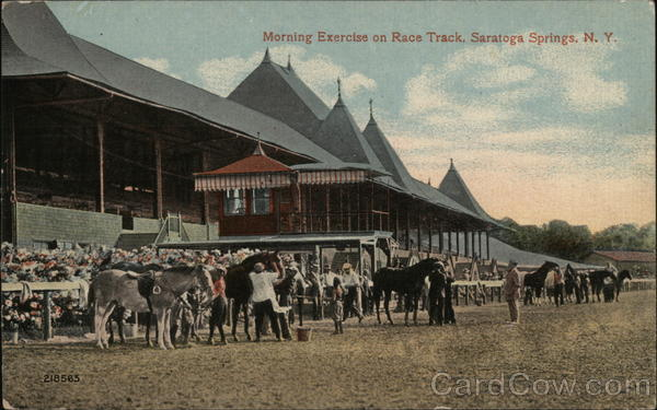 Morning Exercise on Race Track Saratoga Springs New York