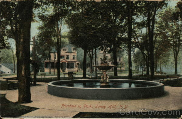 Fountain in Park, Sandy Hill