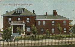 Ward County Hospital Postcard