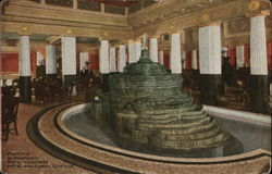 Fountain in Pompeiian Room, Congress Hotel and Annex