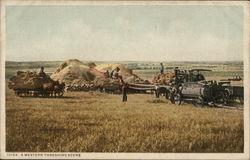 A Western Threshing Scene - Steam Tractors