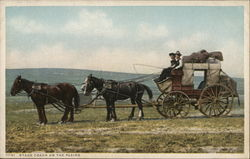Stage Coach on the Plains