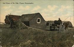 Sod Home of North Dakota Pioneer Homesteaders