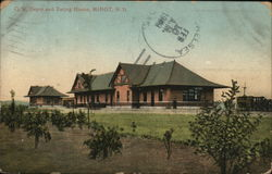 Great Northern Depot and Eating House Postcard