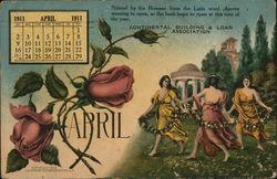 Continental Building & Loan Association, April 1911 Calendar