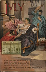 Continental Building and Loan Association, July 1911 Calendar