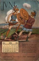 June 1911 Calendar