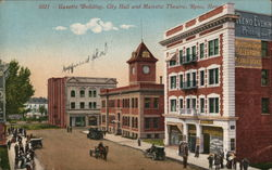 Gazette Building, City Hall and Majestic Theatre