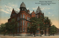 Western High School, McCulloh Street and Lafayette Avenue
