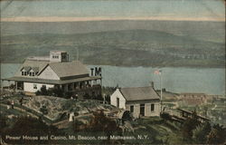 Power House and Casino, Mt. Beacon Postcard