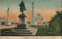 Stranahan Statue & Entrance to Prospect Park