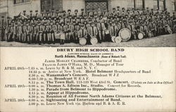 Drury High School Band Schedule