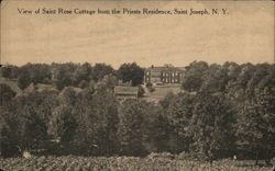 View of Saint Rose Cottage from the Priest Residence, Saint Joseph