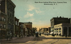 State Street Looking West from Crescent Park Postcard