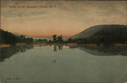 Scene on the Delaware Postcard