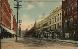 Main Street, Looking North From Chestnut Street Postcard