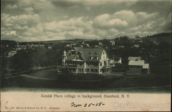 Kendal Place (Village in Background) Stamford New York