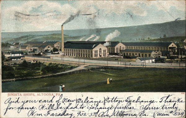 Juniata Locomotive Shop Altoona Pennsylvania