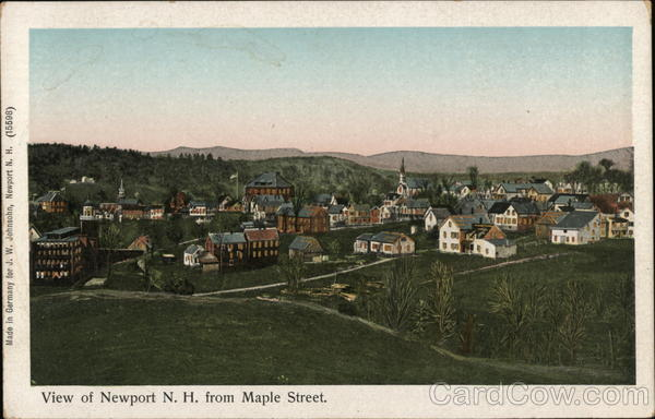 View of Newport, N. H. from Maple Street New Hampshire