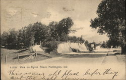 View on Tipton Street Postcard